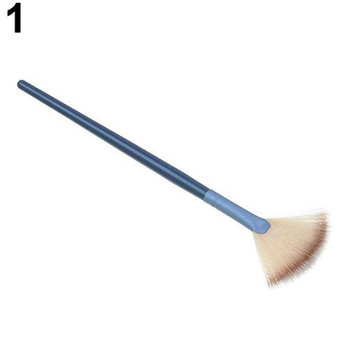AchidistviQ - Pennello professionale a forma di ventaglio per trucco, per sfumature, illuminante, cipria
