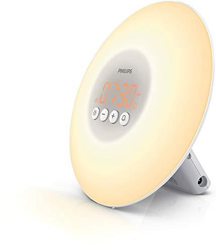 Philips Wake-up Light HF3500/01 - Despertador de luz led, simulación del amanecer y del atardecer...