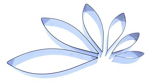 Dahlia Emporte-pièces - Type 1 (lot de 6) pointu ovale en forme de larme en acier inoxydable - Pétale fleur