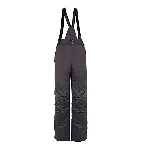 iPretty Unisex Skianzug Outdoorjacke Snowboardhose für Damen Herren Regenjacke mit kapuze Schneeanzug Skihose Daunenjacke wasserdicht atmungsaktiv-Grau(Hose)-M