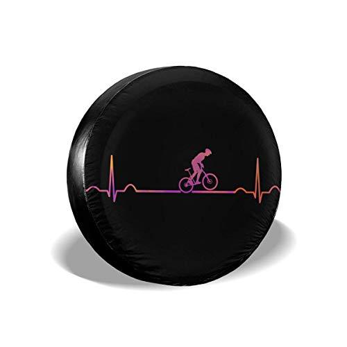 Kejbr Ruote Borsa per Pneumatici, Mountain Bike Heartbeat Borsa Copriruota Wheel Covers for Jeep Trailer RV SUV Truck Travel Trailer Accessories(14