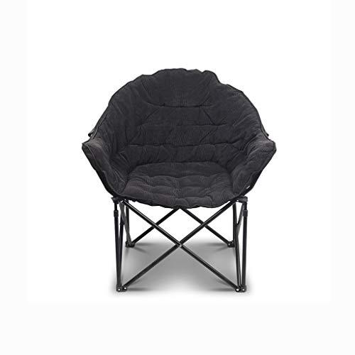 GLZDY Lazy Lounge Chair, Tragbarer Einzel-Sofa-Stuhl Für Zuhause Freizeitstuhl 88 × 88 × 96 cm, Schwarz -