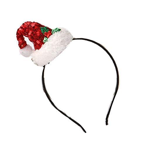 Naisicatar Weihnachten Haarband Hoops Weihnachtsdeko Haarband Party Head -
