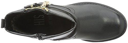 HIS - 28300, Stivali bassi con imbottitura leggera Donna Nero (Nero (nero))