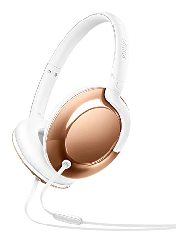 Philips SHL4805RG Flite Everlite Over-Ear Kopfhörer mit Mikrofon (Federleicht, Metallic Design, Faltbar) rosé-gold