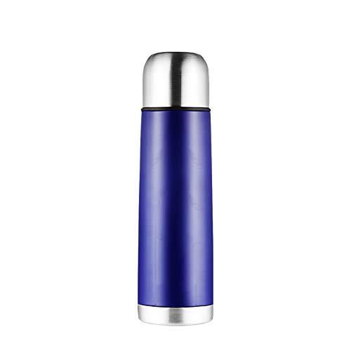 WDCSHJSJD 500ml Thermoskanne Edelstahl BPA Thermo Kaffee mit Tasse im Freien Sport Thermosflasche -