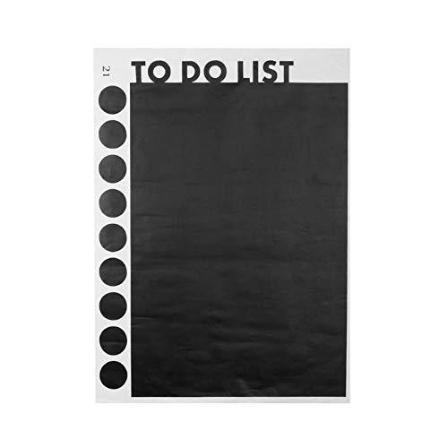Funnytoday365 faire Liste Tableau noir Stickers Home Décorations 221. Adesivos en vinyle Noir de Paredes Nursery Poster Stickers muraux papier peint Art 4.5