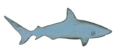 Sixtrees Shark Wall Cutout Sign, Light Blue