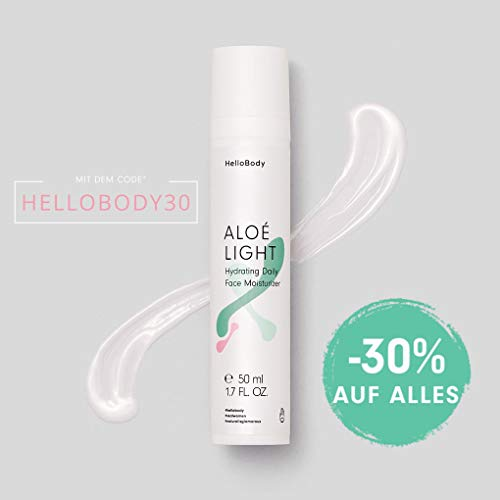 HelloBody ALOÉ LIGHT Hydrating Daily Face Moisturizer (50 ml) - Vegane Tagescreme - Gesichtscreme...