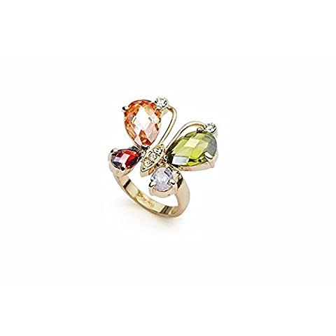 18K Gold Plated Butterfly Ring R2 by