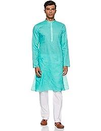 Manyavar Men's Blended Kurta & Pyjama Set (M301065)