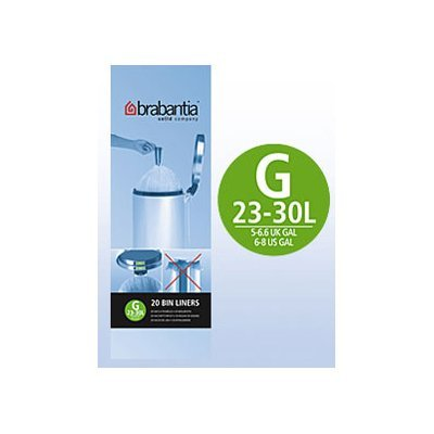 6x Brabantia Müllbeutel Spenderverpackung 30 l (G) 20 Stück