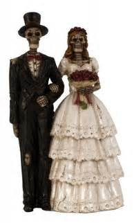 Torten-Figur / Hochzeitstorte Untotes Hochzeits-Paar Brautpaar / Skelett Zombie Gothic Skull Deko Paar Deko-Figur (Figuren Halloween Deko)