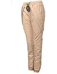 5caa50febeefba Be Noble Edenstyle - Leder- Jogginghose aus ECHT-Leder Lammnappa in Sand  beige für