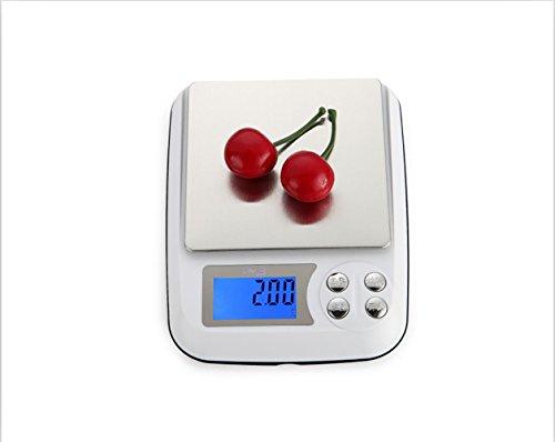 JMung'S Bilancia Da Cucina Digitale Professionale,Acciaio Inossidabile Capacità Massima 5Kg Bicchiere Multifunzionale Accuweight , 1kg/0.1g