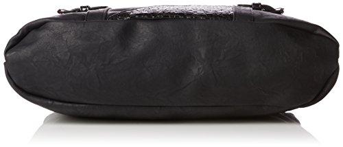 Rieker H1035, Borsa con Maniglia Donna Nero (schwarz/schwarz-grau/00)