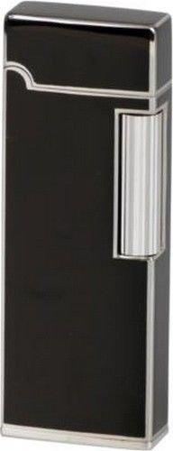 SAROME Feuerzeug SD 9 schwarz Lack/silber Sz