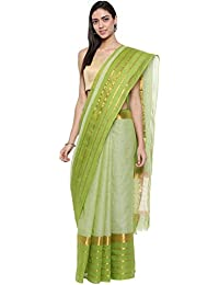 CLASSICATE From the house of Classicate From The House Of The Chennai Silks - Pure Venkatagiri Cotton Saree - Lettuce Green - (CCMYSC9363)