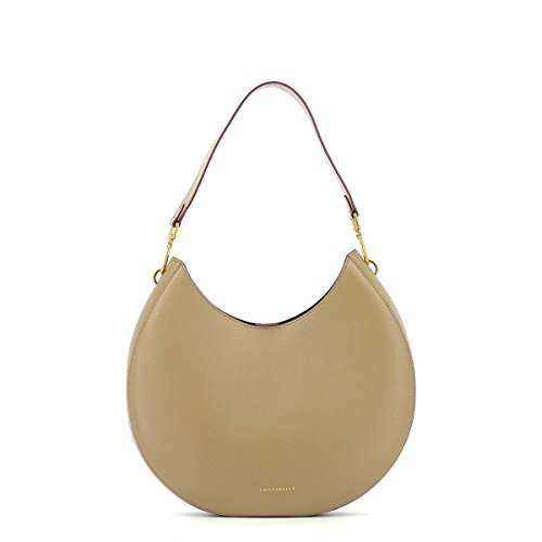Schultertasche in leather TAUPE