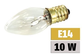 Mini-Kerzenlampe McShine, E14 230V, 10W, klar von McShine - Lampenhans.de