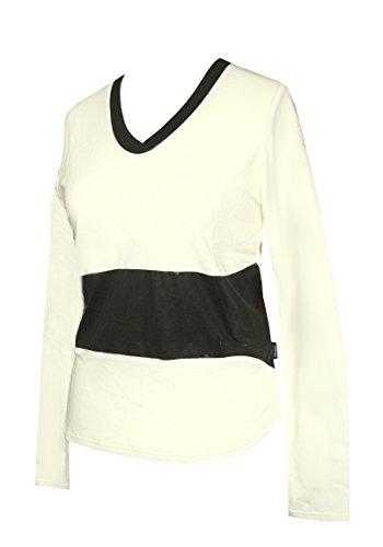 Schneider Sportswear Damen Langarm Shirt Pulli Pullover Creme/Schwarz