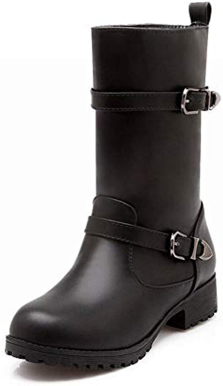 IG Scarpe da Donna - Stivali a Punta Autunnali e Invernali Stivali Tacco Basso Inghilterra Stivali Caldi 34-43... | Aspetto estetico  | Uomo/Donne Scarpa