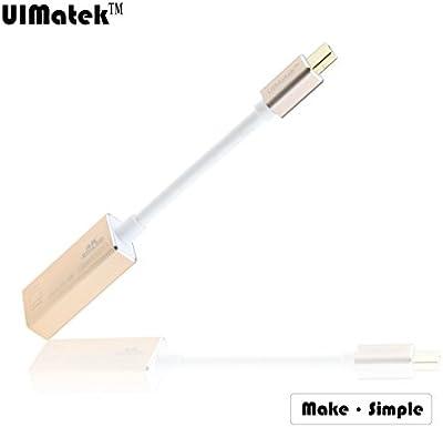 UIMatek Mini DisplayPort a HDMI Support 3D/4Kx2K,Chapado En Oro Mini Display Portto HDMI Female Adapter cable (Mini DP/mDP/ ThunderBolt / ThunderBolt 2 Port Compatible)