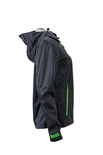 James & Nicholson Damen Outdoor Jacket Jacke Grau (Iron-Grey/Green)