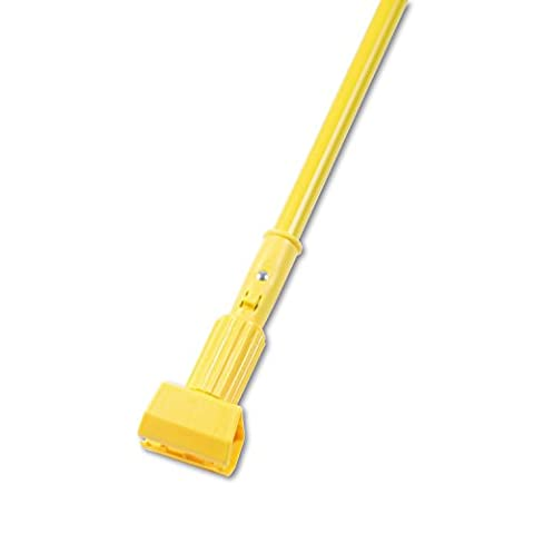 Plastic Jaws Mop Handle for 5 Wide Mop Heads, 60in , Aluminum Handle, Yellow