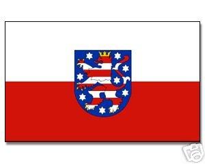 Yantec drapeau de la thuringe drapeau 90 x 150 cm