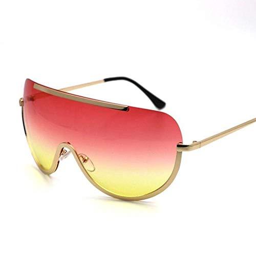 LiyuAI Sonnenbrillen für Damen Großer Rahmen, All-in-One-Objektive, Farbverlauf Sonnenbrille