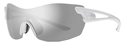 Smith Damen Pivlock Asana/N Xb Vk6 99 Sonnenbrille, Weiß (White/SIL Grey Speckled Cp)