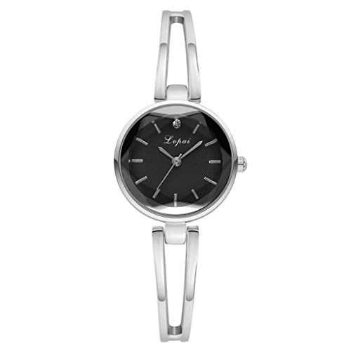 YEARNLY Damen Analog Quarz Uhr mit Legierung Armband Einfache beiläufige Art und Weise konvexe kleine exquisite Armbanduhr
