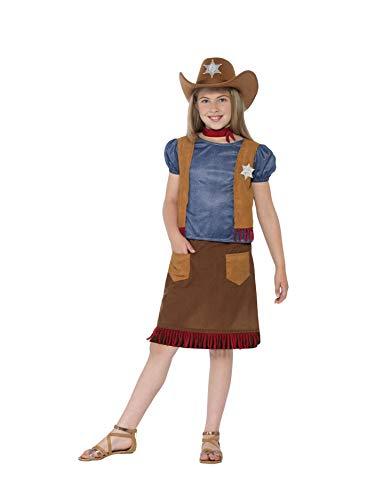 Smiffys 24669S - Mädchen Western Cowgirl Kostüm, Alter 4-6 Jahre, Größe: S, braun