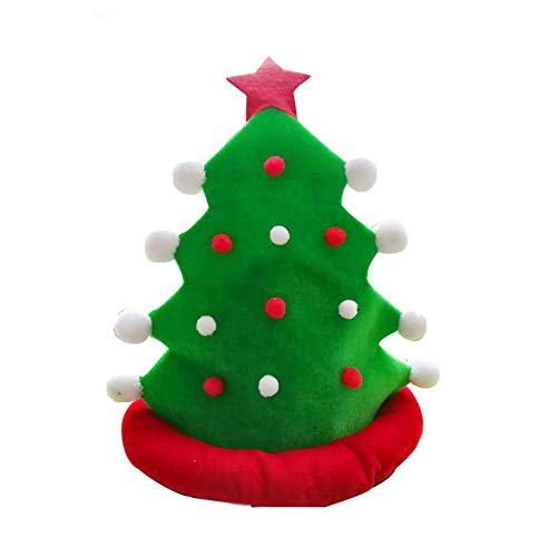 Fcostume Weihnachtsbaum-lustige Partyhüte Weihnachtshüte Plüsch-Kostüm, Outfit Neuheit Spielzeug (AS Show)