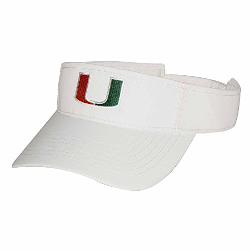 Ouray Sportswear NCAA Miami Hurricanes Adult Men Performance Tour Visor Adjustable Size -