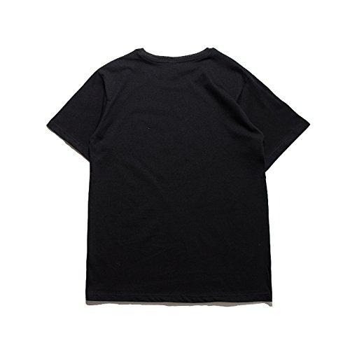 BOMOVO Herren SUPERME T-shirt 2017 Sommer Casual Mode Kurzarm Hemd Kariert Schwarz