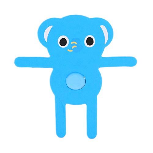 Radieschensterne Universal Silikon Kreative Cute Cartoon Anti-Rutsch-Handy Auto Halterung Verstellbare Lüftungsgitter Auto Handyhalterung Handyständer GPS-Halterung, One Size, Blauer Elefant