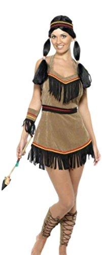 Imagen de erdbeerloft–disfraz karnevalstore24–pocahontas mujer, s–m, color marrón marrón medium