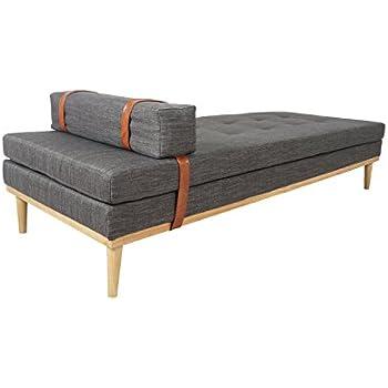 salesfever daybed mesa relaxliege oder g stebett in grau zum entspannen liegen und sitzen. Black Bedroom Furniture Sets. Home Design Ideas