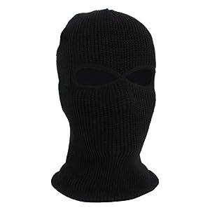 Horatiao Herren Gesichtsmaske Skimaske Wintermütze 3 Löcher Sturmhaube Mütze Taktisch Warm
