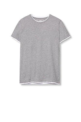 ESPRIT 997ee2k807-2in1, T-Shirt Uomo Grigio (MEDIUM GREY 035)
