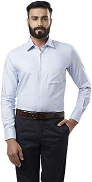 Raymond Light Blue Regular Fit Cotton Shirt
