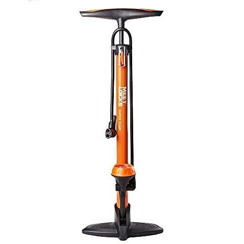 Meetlocks Pompe à pied pour vélo, pompe à bicyclette de