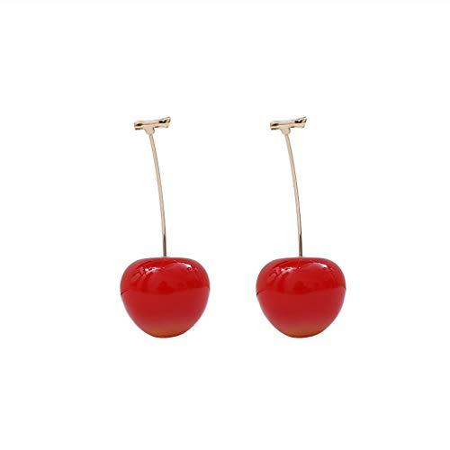 Incdnn süße rote Kirsche Obst Tropfen Ohrringe für Frauen Mode Schmuck -