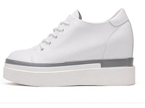 Petite chaussures blanches à l'automne/Chaussures avec des semelles épaisses/Chaussures noirs/High shoes B