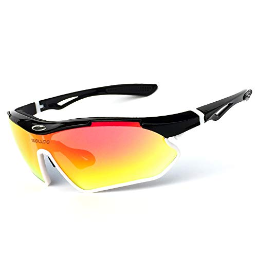 BUG-L Outdoor Sports Athlet Sonnenbrillen für Radfahren Angeln Golf, 100% UV-Schutz