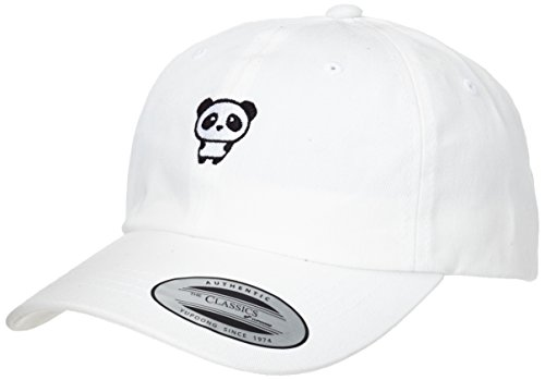 Mister Tee Herren Panda Dad Cap Kappen, White, one size (Mens Probleme Tee)