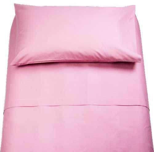 Demona spedizione gratuita set completi di lenzuola 100% cotone singolo tinta unita vari colori sottosopra + federa offerta (rosa)