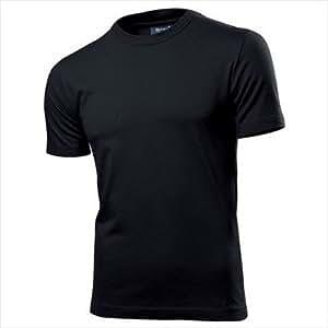 Hanes - Fit T-Shirt 'Fit T' - körperbetont L,Black